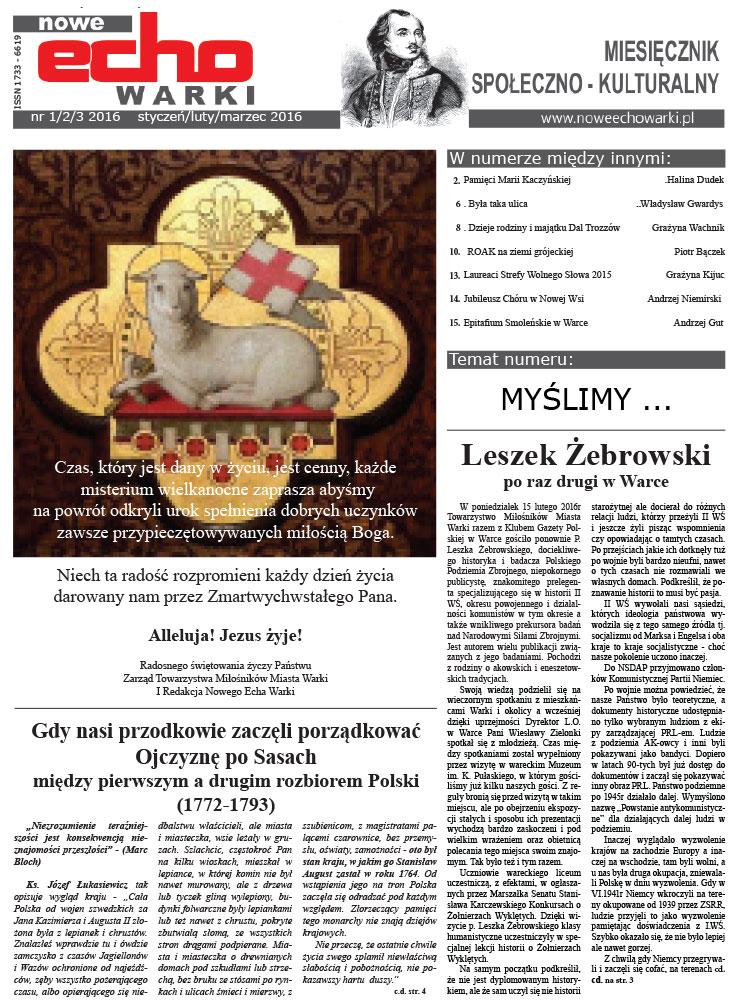 Styczeń – Luty – Marzec 2016